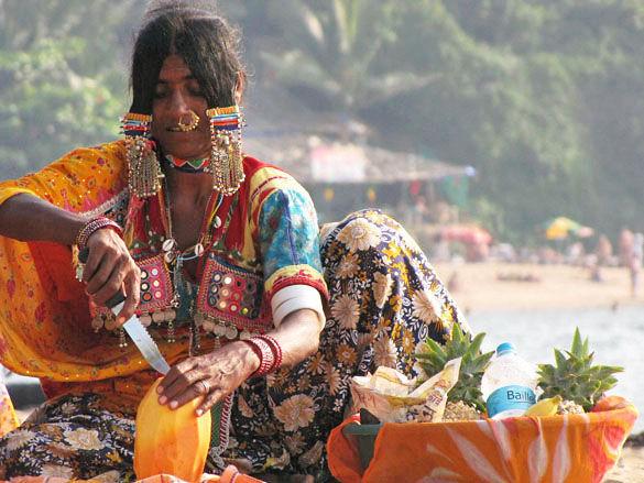 Индианка на Гоа фото