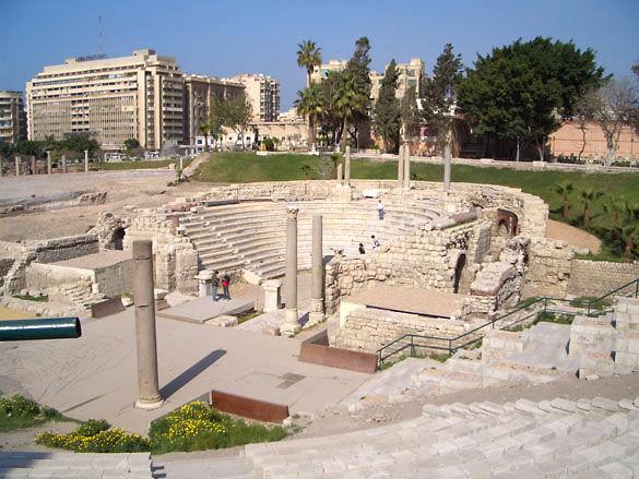 Развалены древнего театра. Александрия