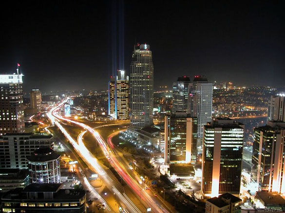 Стамбул ночью фото