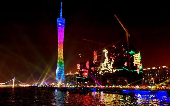 Телебашня в Гуанчжоу фото