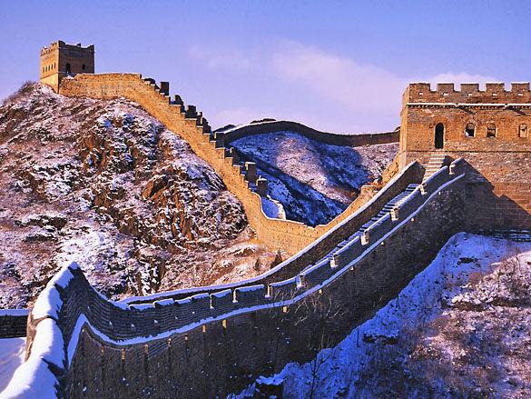 Великая Китайская Стена зимой фото