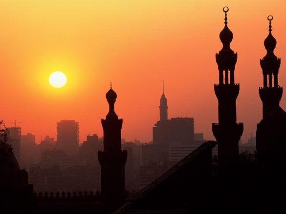 Закат в Каире. Египет фото