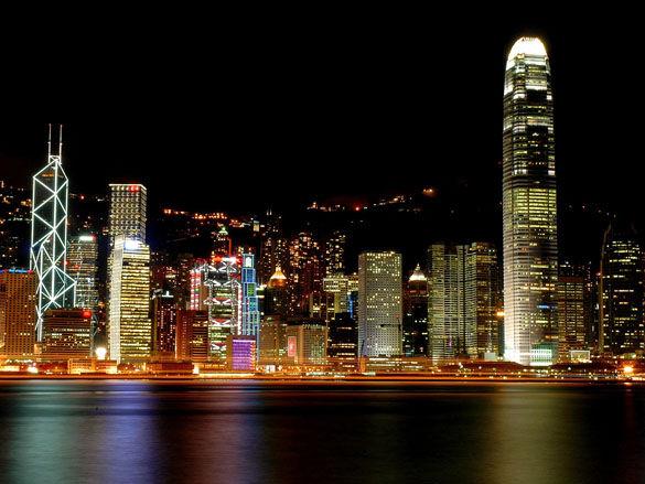 Фото ночной Гонконг