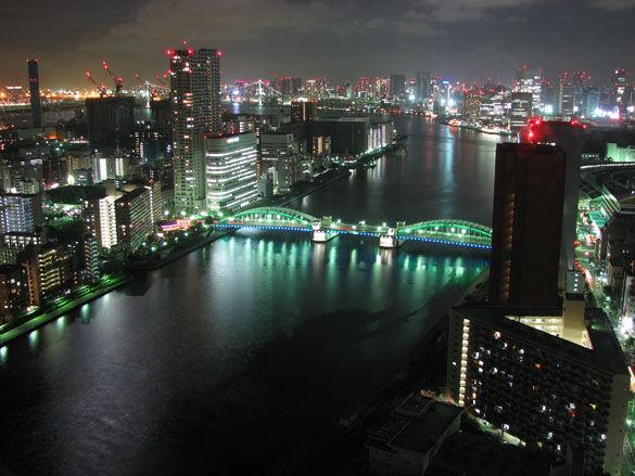 Ночной город Токио