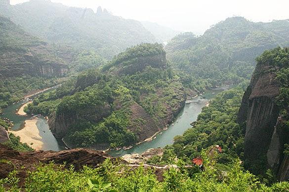 Фото гор Уишань. Провинция Фуцзян